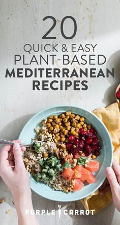 A Mediterannean diet is known for its heart-healthy benefits. We gathered our favorite quick, easy, and healthy Mediterranean recipes and put them all in one place for you. Click here to explore our go-to dinners, snacks, and lunches.