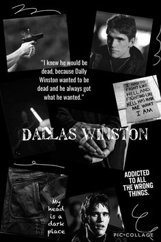 i'm happy i made it black and white, it really gives me bad boy vibes🖤 The Outsiders Two Bit, The Outsiders Quotes, The Outsiders Imagines, The Outsiders 1983, Hurt Quotes, Sad Quotes, Young Matt Dillon, Dallas Winston, Favorite Book Quotes