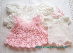 Check out our crochet baby dress pattern selection for the very best in unique or custom, handmade pieces from our shops. Crochet Baby Dress Pattern, Baby Dress Patterns, Crochet Bebe, Crochet Girls, Crochet Baby Clothes, Crochet For Kids, Crochet Patterns, Baby Girl Dresses, Little Dresses