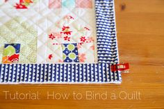 How to Double Bind a Quilt, free tutorial