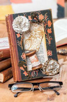 DIY und Anleitung: Buch, basteln mit und aus alten Büchern http://www.vbs-hobby.com/de/themenset/buch-mit-innenleben-895.html