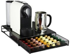 Amazon.com: DecoBros Coffee Pod Storage Mesh Nespresso Drawer holder for 56 Capsules, Black: Office Products