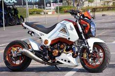Msx Honda Scooters, Honda Bikes, Honda Motorcycles, Custom Motorcycles, Custom Bikes, Honda Grom Custom, Honda Grom 125, Honda Ruckus, Honda Cb