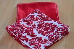 Cloth Coasters - Set of 4 Red Damask. $5.00, via Etsy.