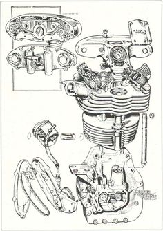 manx norton blueprints - Google Search