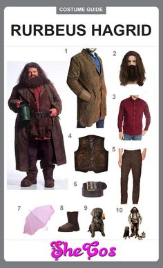 Harry Potter Outfit Ideas Pictures the complete guide to rubeus hagrid costume of harry potter Harry Potter Outfit Ideas. Here is Harry Potter Outfit Ideas Pictures for you. Hagrid Costume, Dumbledore Costume, Harry Potter Family Costume, Harry Potter Fancy Dress, Hogwarts Costume, Harry Potter Halloween Costumes, Harry Potter Cosplay, Harry Potter Outfits, Family Halloween Costumes