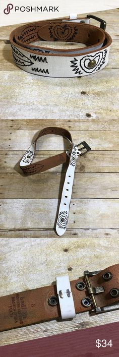 """Bed Stu for Free People Poco Leather Belt GUC. Genuine leather belt. Removable buckle. 40"""" in length including buckle. Normal signs of wear as shown. 💰Bundle and save on shipping. Bed Stu Accessories Belts"""