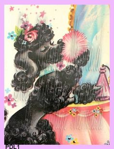 vintage poodle fabric with - photo #27