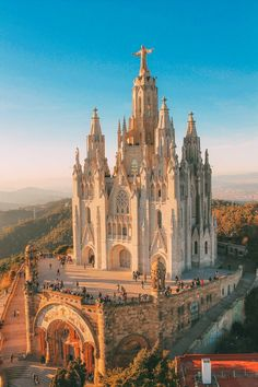 Sagrat Cor Church on Tibidabo Mountain, Barcelona