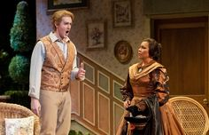 Alfredo (Joshua Kohl) and Annina (Patricia Soria Urbano) at Violetta's country house. Photo by Jim Scholz.