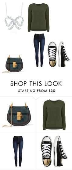 """""""Untitled #855"""" by elsie-jones ❤ liked on Polyvore featuring Chloé, VILA, Converse and Roberto Coin"""