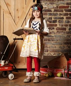 Love this Yellow & White Floral Knot Dress - Infant, Toddler & Girls by Sado on #zulily! #zulilyfinds