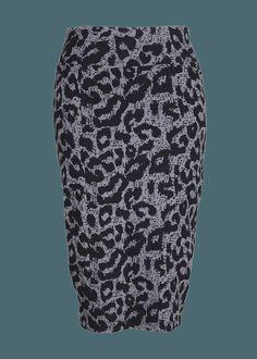 Pencil Skirt W/ Print at Melissa McCarthy Seven7