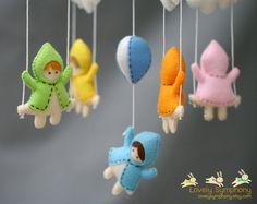 Mädchen und Schaukeln im Himmel Baby mobile - Mädchen und Schaukeln - Baby mobile auf Etsy, $90.00