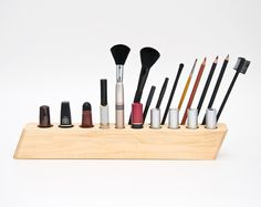 Wood Makeup Organizer Cosmetic Organizer Makeup by lessandmore