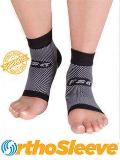 cdc057c90c The FS6 Compression Foot Sleeve relieves symptoms of Plantar Fasciitis,  Achilles Tendinitis, heel pain