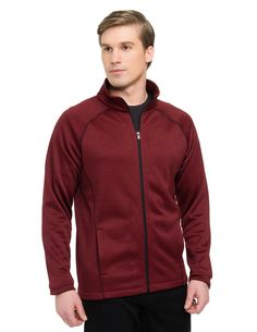 0e0d96d140 The Tri-Mountain Performance Vapor Men s jacket is made with 100% polyester  heather fleece