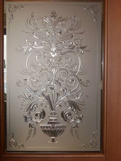 New Etched Glass Door Design Patterns Ideas Window Glass Design, Frosted Glass Design, Frosted Glass Door, Door Design, Glass Doors, Etched Glass Door, Stained Glass Door, Stained Glass Panels, Glass Etching Designs