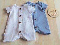 Linen Roly Poly Romper