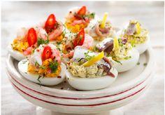 Recept på toppings till ägghalvor i påsk | Hemmets