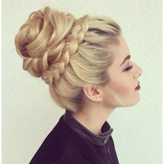 Updo. Crown braid & bun