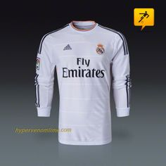 Real Madrid Long Sleeve Soccer Jersey Soccer Jersey Home Football Shirts 2013 2014,Little Kid Real Madrid Jerseys