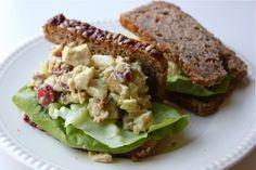 Chicken curry salad sandwich.