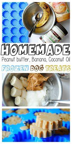 Homemade Peanut Butter Banana Coconut Oil Frozen Dog Treats