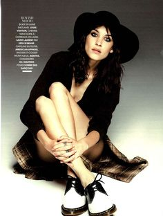 Madame Figaro magazine featured Alexa Chung in the Wool Floppy Hat by #AmericanApparel, France, August 2013.  #MadameFigaro #magazine #AlexaChung #hat