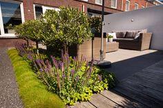 Tuin met Moderne look en eigentijdse elementen.