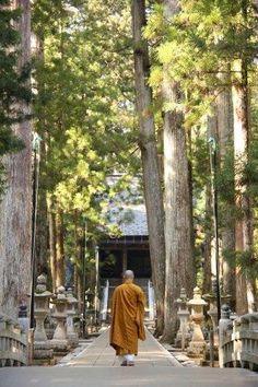 A monk on Mt. Koya in Japan.