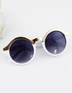 Round Design Colorful Fashion New Arrivals Summer Women Sunglasses -SheIn(Sheinside)