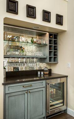 Home Bar Rooms, Home Bar Areas, Home Bar Decor, In Home Bar Ideas, Wine And Coffee Bar, Coffee Bar Home, Small Bars For Home, Mini Bar At Home, Kitchen Bar Design