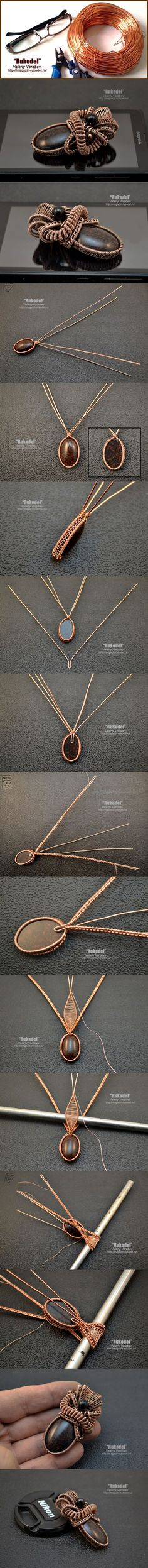 Wire Wrap Pendant - Подвеска из проволоки - http://magazin-rukodel.ru/