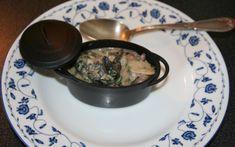 Champignons, lardons et escargots dans une sauce crémeuse très parfumée