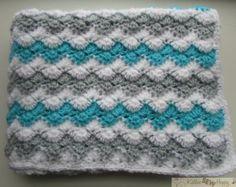 Crochet Afghan Pattern Easy Crochet Blanket by KathieSewHappy