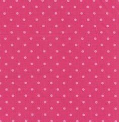Pretty Dark Pink Fabric With light Pink Polka by FabricOdyssey, $4.95