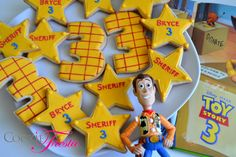 Toy Story cookies  sheriff stars and your choice by CookieFiesta