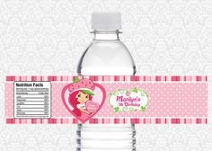Strawberry Shortcake Water Bottle Label 400 Via Etsy
