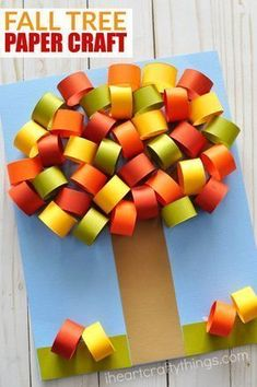 Make this beautiful fall tree paper craft to celebrate the fall season. Fun paper crafts for kids, fall crafts for kids, paper craft, kids paper crafts. for kids Beautiful Fall Tree Paper Craft Fall Crafts For Kids, Paper Crafts For Kids, Thanksgiving Crafts, Crafts To Make, Easy Crafts, Art For Kids, Arts And Crafts, Craft Kids, Kids Diy