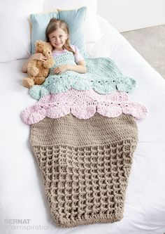 Double Scoop Crochet Snuggle Sack - intermediate (free pdf instructions & video)