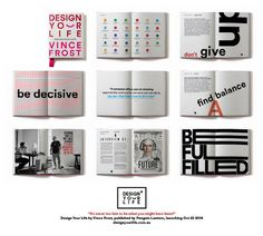 Spreads from design your life by vince frost