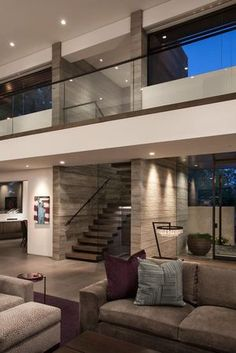 Mid-century design is a must! What do you think about these home design ideas! - Mid-century design is a must! What do you think about these home design ideas! Contemporary Interior Design, Home Interior Design, Interior Architecture, Interior Ideas, Luxury Interior, Interior Stairs, Contemporary Houses, Interior Inspiration, Modern Mansion Interior