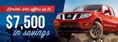 2016 Nissan Frontier deals rebates