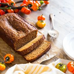 This Easy Paleo Pumpkin Bread is cashew based which gives it a very warm & soft nutty flavor. It's absolutely heavenly & moist, too!