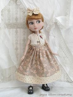 "Patience Tonner 14"" BJD OOAK Vintage Style Dress Knit Shrug Handmade by JEC | eBay"