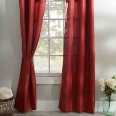 Be bold and indulge in the beauty these Solid Red Curtain Panel's can bring to your room. Luxury and lavish style come together adding final touch to finish any room in your home!