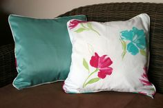 "SALE - Pair of floral print 16"" cushion covers"
