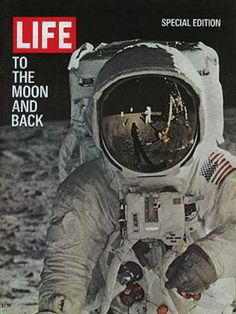 """Life magazine's moon landing special edition, 1969.  I remember the day it happened.  """"One giant leap for Mankind.""""  I guess it was.  RIP Neal Armstrong."""