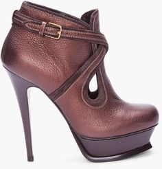 shoe collection, fashion, yves saint laurent, espresso, leather boots, ankle boots, ankl boot, high heel boots, riding boots